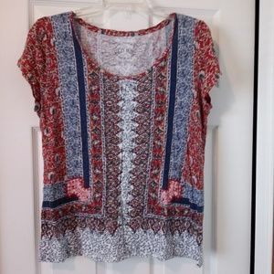 Lucky Brand Linen Blend T-Shirt - Large